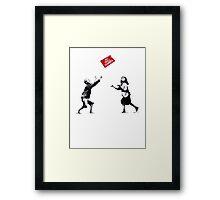 Banksy No Ball Games Framed Print