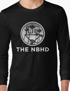 The Neighbourhood Palm Tree Print The NBHD Band Shirt White Long Sleeve T-Shirt