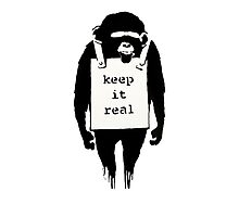 Banksy Keep it Real Photographic Print