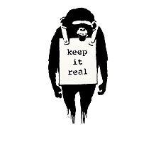 Banksy Keep it Real Photographic Print