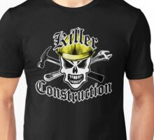 Construction Skull 2.1 with Crossed Tools Yellow Unisex T-Shirt