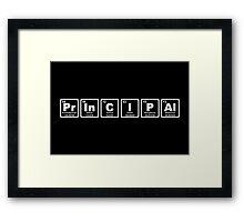 Principal - Periodic Table Framed Print