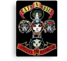 CATS N ROSES Canvas Print