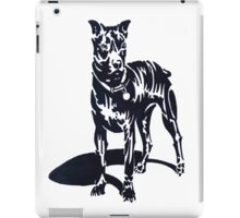 PIT BULL PUPPY (Graffiti) iPad Case/Skin