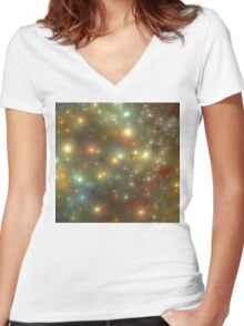 Universal Galaxies Women's Fitted V-Neck T-Shirt