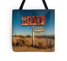 Abandoned Desert Motel Sign Tote Bag
