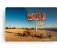 Abandoned Desert Motel Sign Metal Print