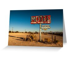 Abandoned Desert Motel Sign Greeting Card