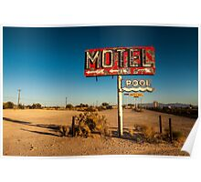 Abandoned Desert Motel Sign Poster