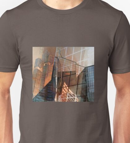Glass Building Reflections Unisex T-Shirt