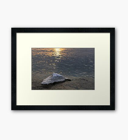 Icy Island -  Framed Print
