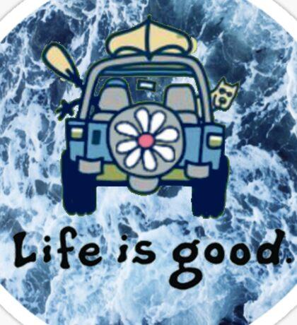 Life is good. (ocean) 2 Sticker
