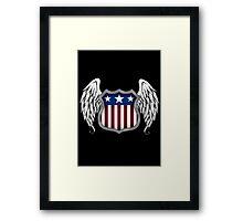 Winged American Shield (Black) Framed Print