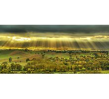 Morning sunrays, Ovens Valley Photographic Print