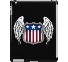 Winged American Shield (Black) iPad Case/Skin