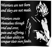Warriors Are Not Born - Super Saiyan (White) Poster