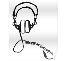analog headphones Poster
