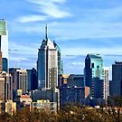 Philadelphia PA Skyline II by Susan Savad