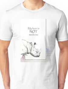 Rhino horn myth Unisex T-Shirt
