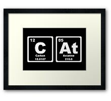 Cat - Periodic Table Framed Print