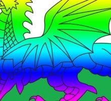 Rainbow Welsh Flag Sticker