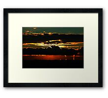 Psalm 65:8 They also that dwell in the uttermost parts are afraid at thy tokens: thou makest the outgoings of the morning and evening to rejoice. Framed Print