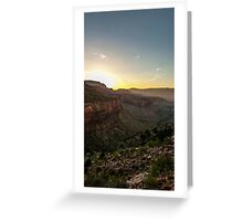 Sunset in the Grand Canyon Greeting Card