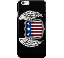 Winged American Crest (Black) iPhone Case/Skin