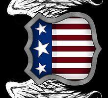 Winged American Crest (Black) by Sadguru