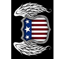 Winged American Crest (Black) Photographic Print