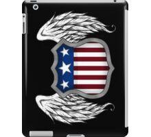 Winged American Crest (Black) iPad Case/Skin