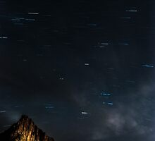 Zion National Park Star Trails by UberBoy