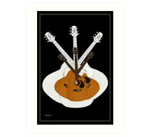 Guitar Coat of Arms Art Print