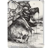snapping turtle pen and ink iPad Case/Skin