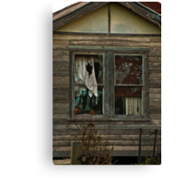 Neglected Old Window Canvas Print