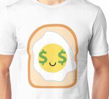 Bread with Egg Emoji Money Face Unisex T-Shirt