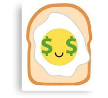 Bread with Egg Emoji Money Face Canvas Print