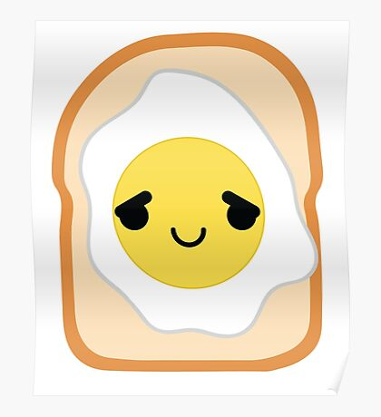Bread with Egg Emoji Pretty Please Poster