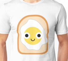 Bread with Egg Emoji Shock and Surprise Unisex T-Shirt