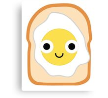 Bread with Egg Emoji Shock and Surprise Canvas Print