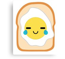 Bread with Egg Emoji Teary Eye of Joy Canvas Print