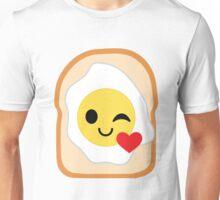 Bread with Egg Emoji Flirt and Blow Kiss Unisex T-Shirt