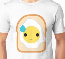 Bread with Egg Emoji Speechless with Sweat Unisex T-Shirt