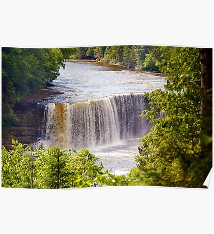 The Upper Falls on Tahquamenon River Poster
