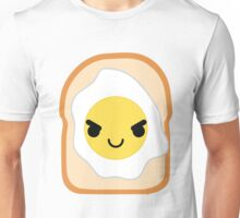 Bread with Egg Emoji Naughty and Cheeky Unisex T-Shirt