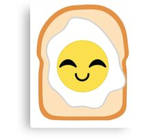 Bread with Egg Emoji Happy with Joy Canvas Print