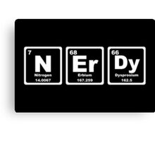Nerdy - Periodic Table Canvas Print