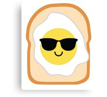 Bread with Egg Emoji Cool Sunglasses Canvas Print
