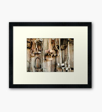 Relics from Rural Australia - Branding Irons #2 Framed Print