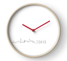 TOKYO SKYLINE (WHITE) Clock